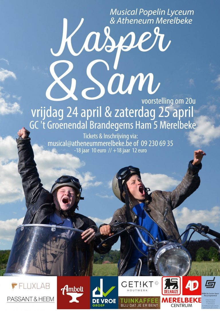 Schoolmusical Kasper & Sam – NIEUWE DATA!!!